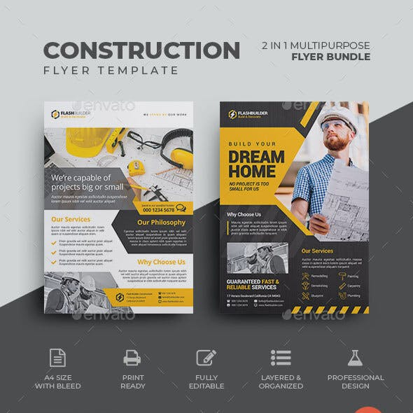Construction Flyer Bundle