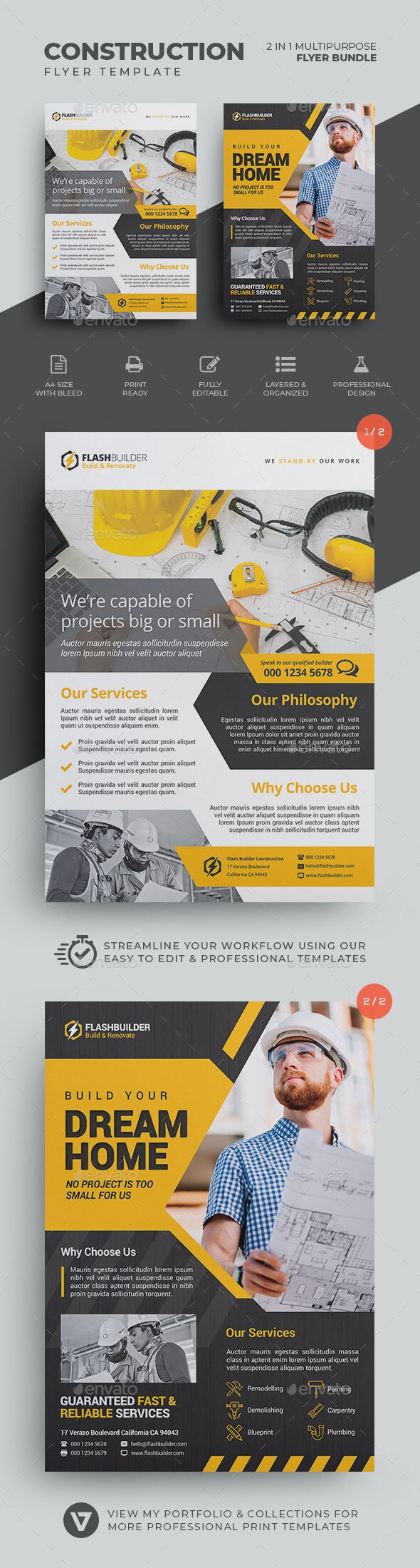 Construction Flyer Bundle - Corporate Flyers