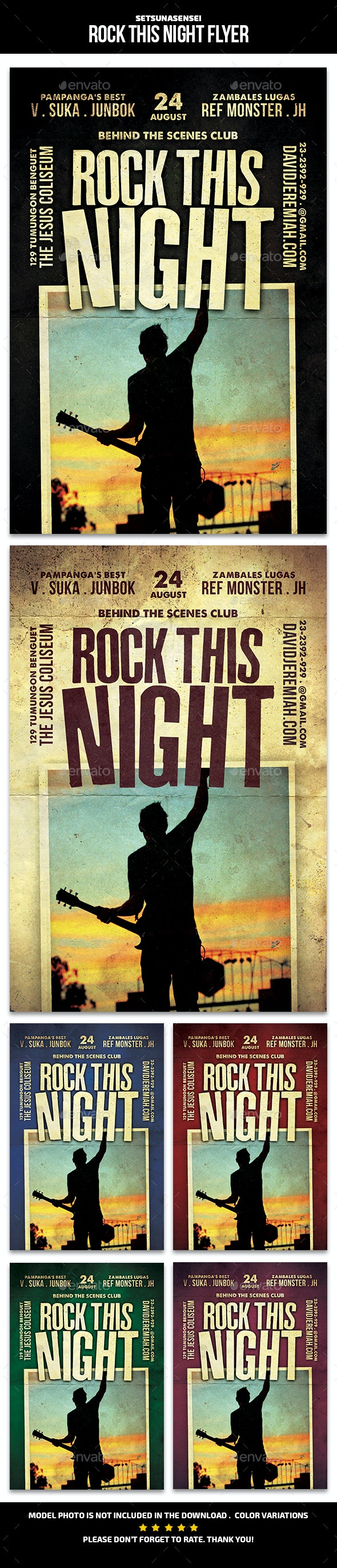 Rock This Night Flyer - Concerts Events