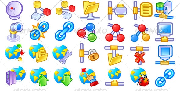Network and Internet Icons #1 - Web Icons