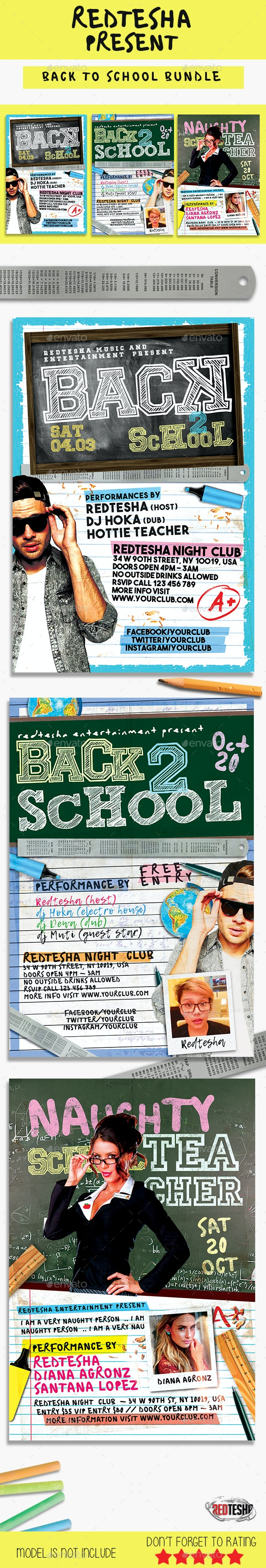 Back to School Flyer Bundle - Events Flyers