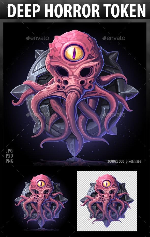 Deep Horror Token - Objects Illustrations