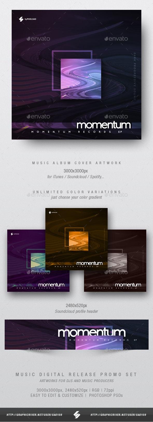 Momentum - Minimal Album Cover Artwork Template - Miscellaneous Social Media