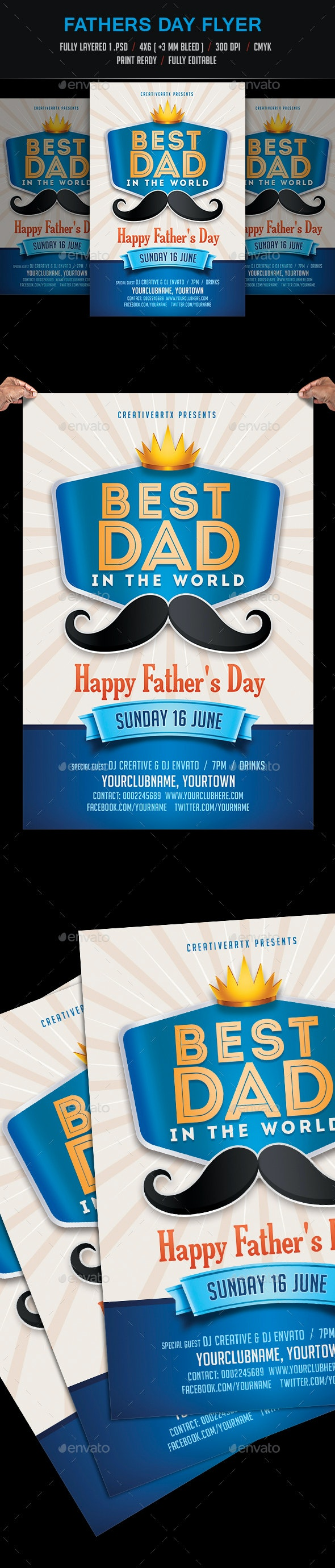 Fathers Day Flyer / Poster - Events Flyers