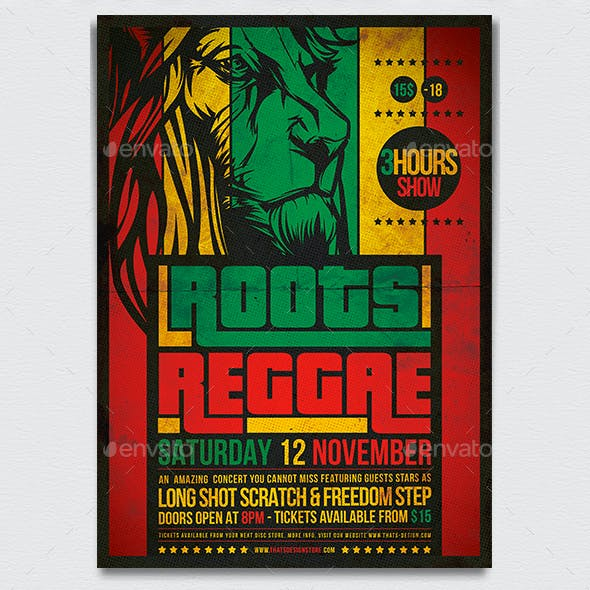 Roots Reggae Flyer Template