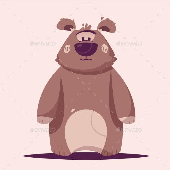 Brown Bear Character - Animals Characters