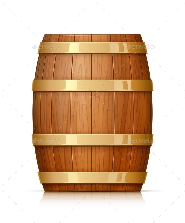 Wooden Barrel - Man-made Objects Objects