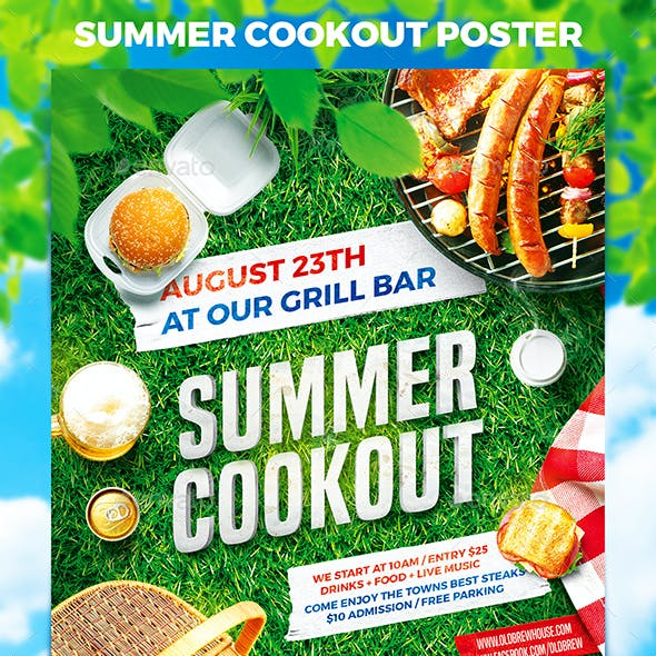 Summer Cookout Party Poster