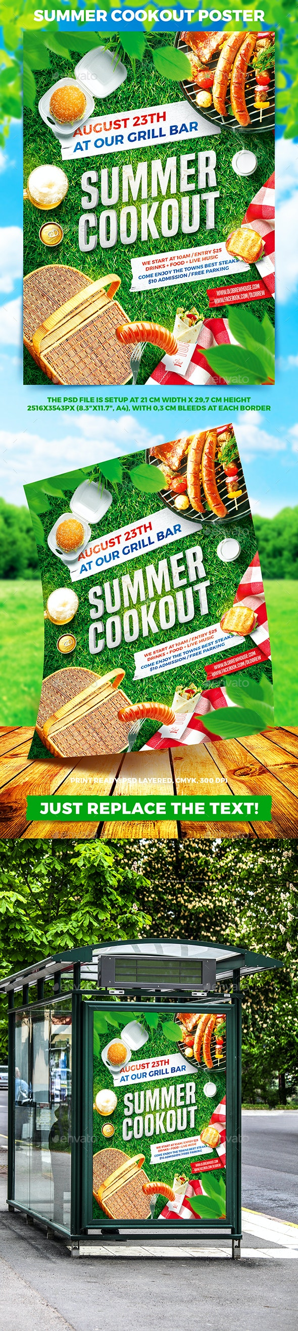 Summer Cookout Party Poster - Miscellaneous Events