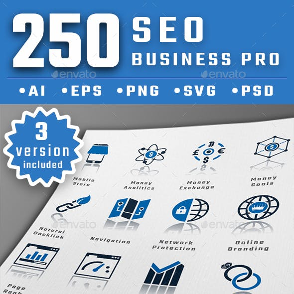 Seo Business Pro Icons