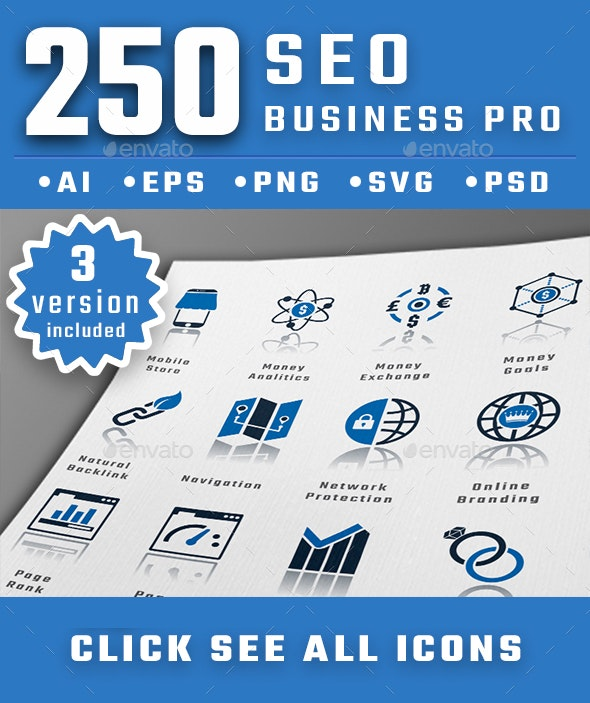Seo Business Pro Icons - Business Icons