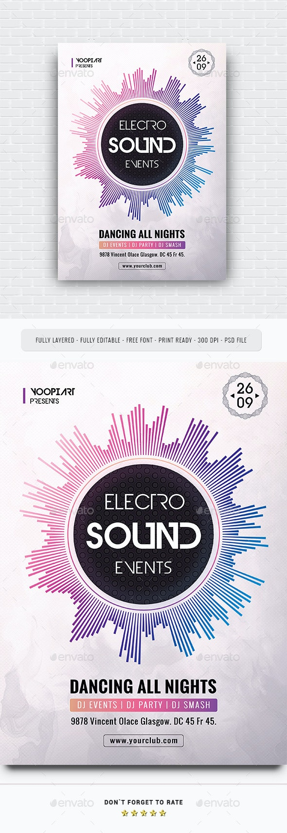Electro Sound Events Flyer - Events Flyers