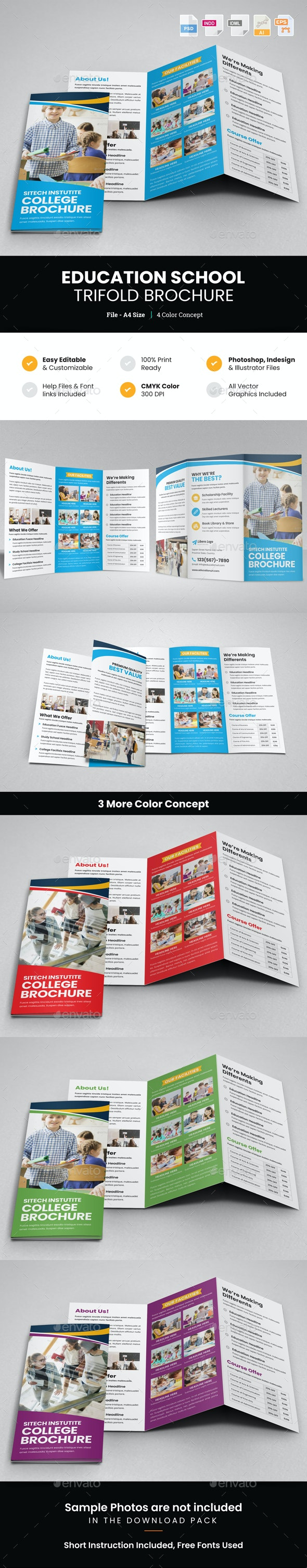 Education School Trifold Brochure v2 - Corporate Brochures
