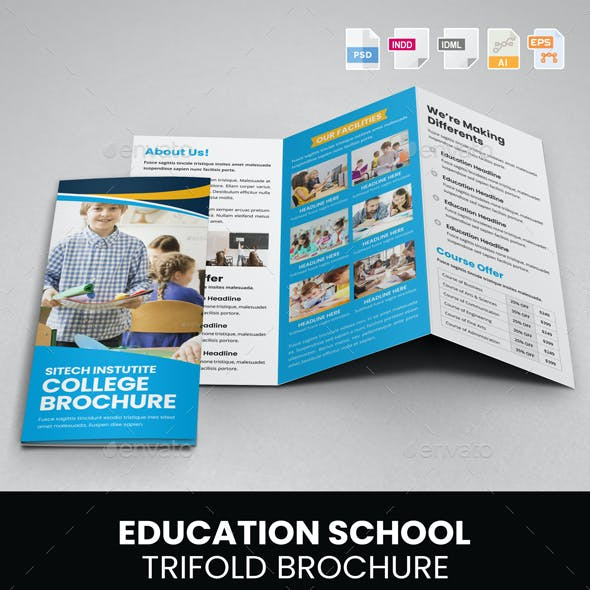 Education School Trifold Brochure v2