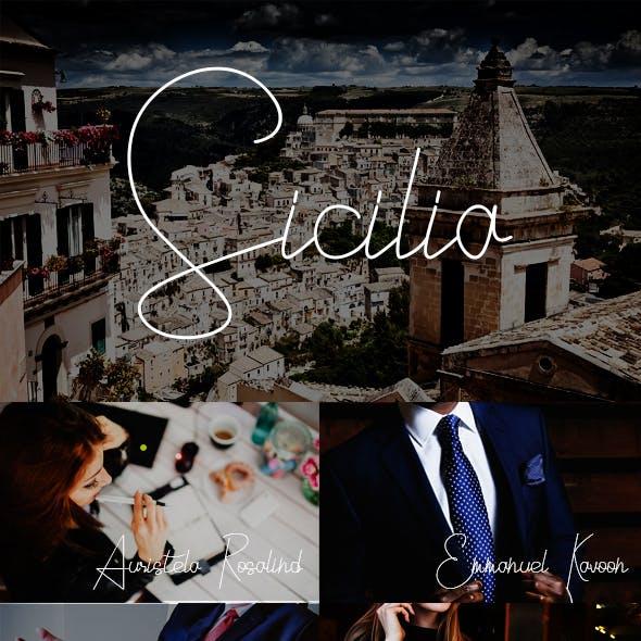 Sicilia Signature Typeface