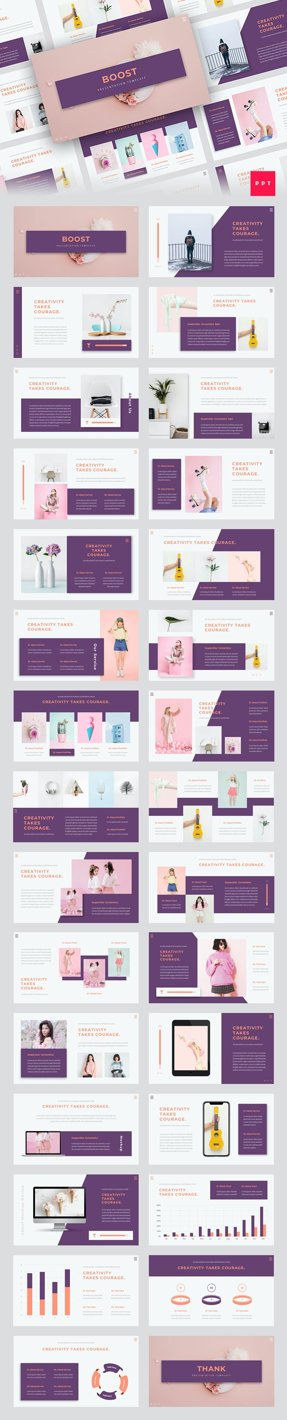 Boost - Creative PowerPoint Template - Creative PowerPoint Templates
