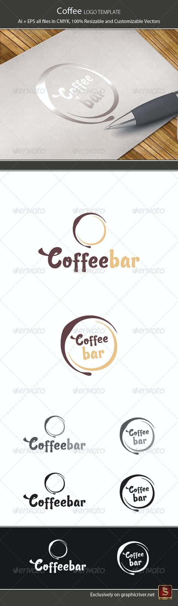 Coffee Logo Template - Vector Abstract