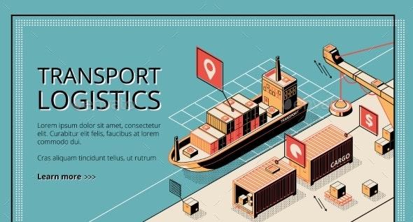 Transport Logistics, Ship Port Delivery Service - Industries Business