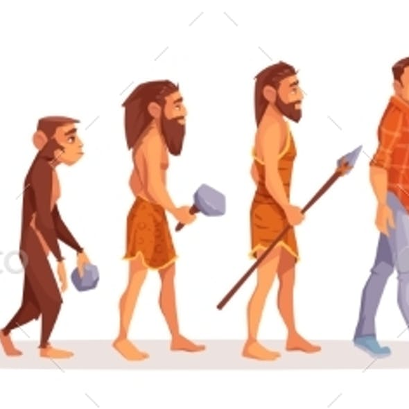 Human Evolution From Ape To Man Computer User