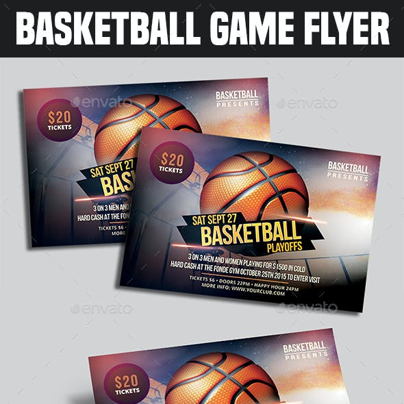 BasketBall Game Flyer