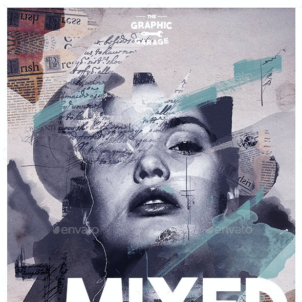 Mixed Media Photo Template