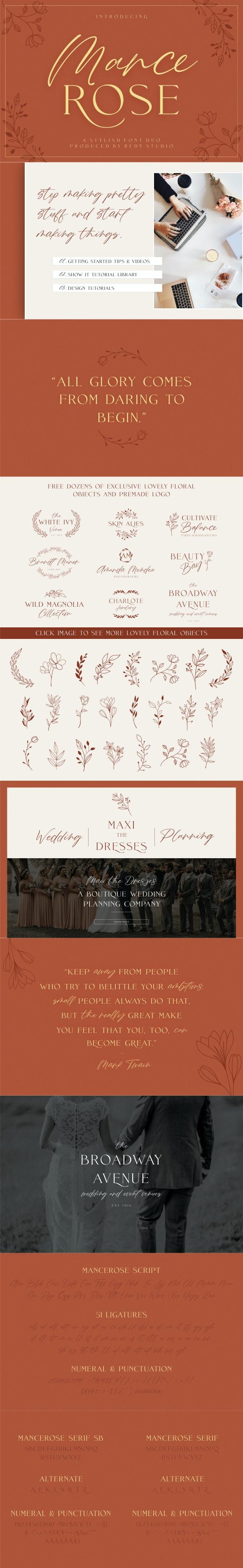 FontDuo   Mance Rose - Script Fonts