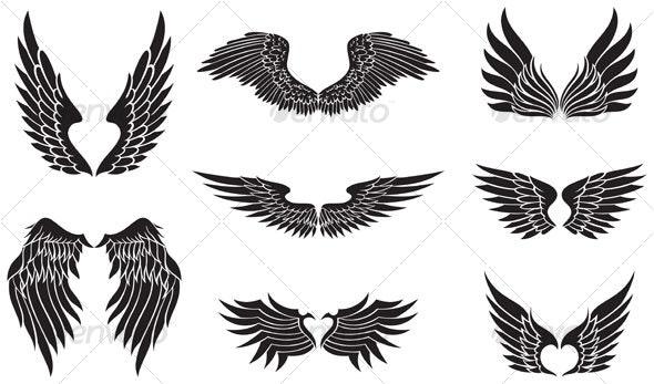 black wings - Decorative Symbols Decorative
