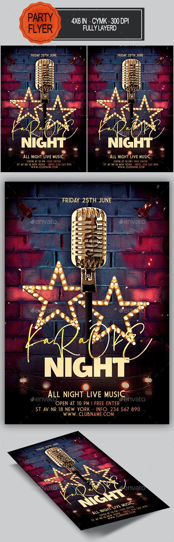 Karaoke Flyer - Clubs & Parties Events
