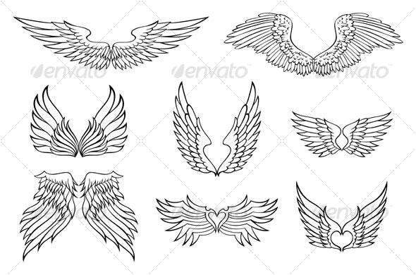 wings design - Decorative Symbols Decorative