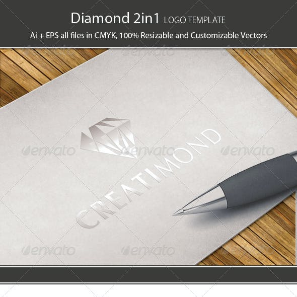 Diamond 2in1 Logo Template