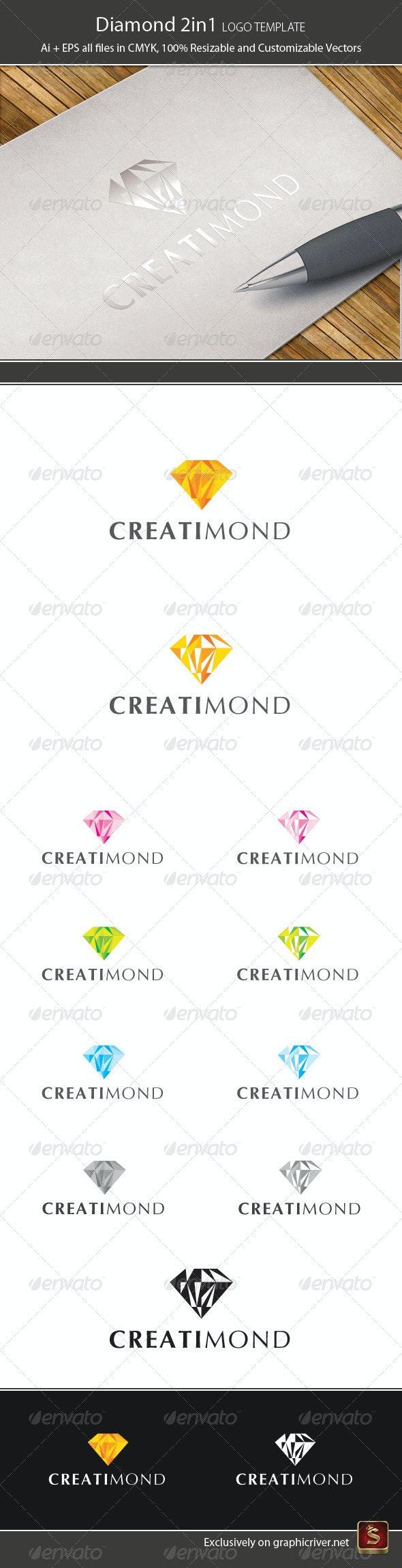 Diamond 2in1 Logo Template - Vector Abstract