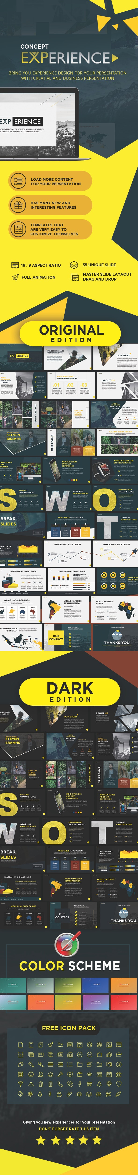 Concept Experience Presentation Powerpoint Template - Creative PowerPoint Templates