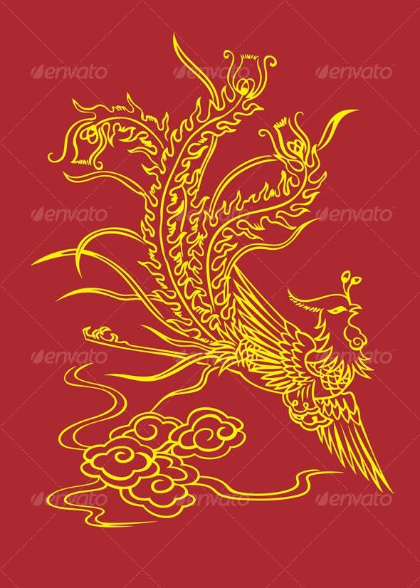 golden phoenix - Animals Characters