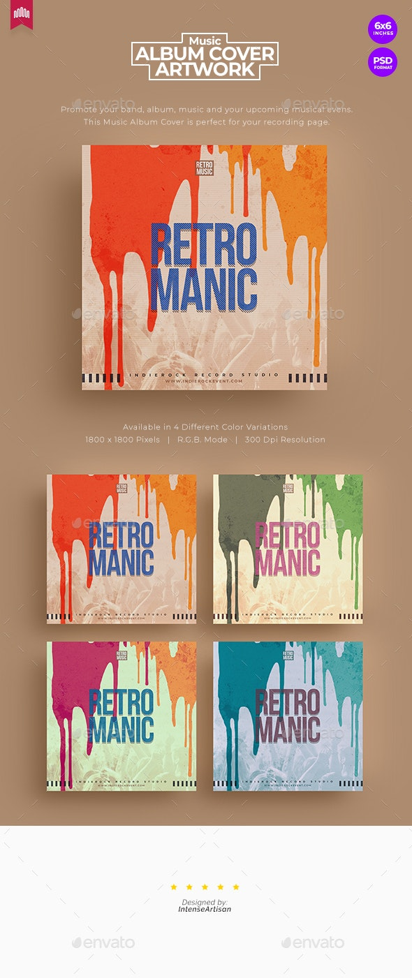 Retro Manic - Music Album Cover Artwork - Miscellaneous Social Media