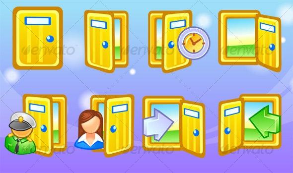 Door Icons - Web Icons