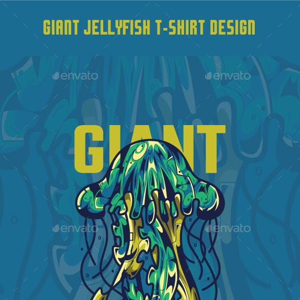 Giant Jellyfish T-Shirt Design