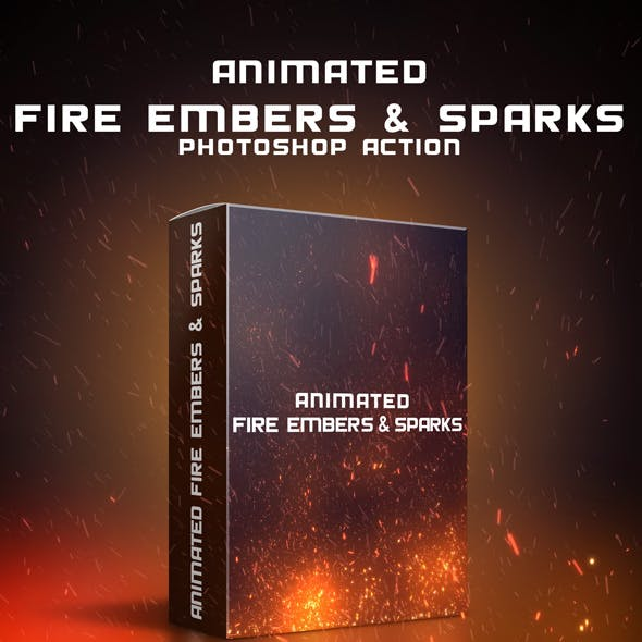 Animated Fire Embers & Sparks Photoshop Action