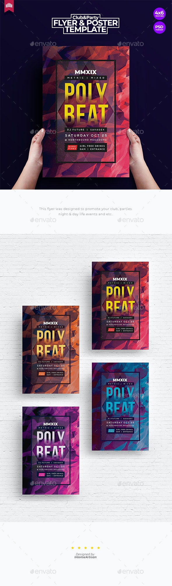 Poly Beat - Flyer Template - Clubs & Parties Events