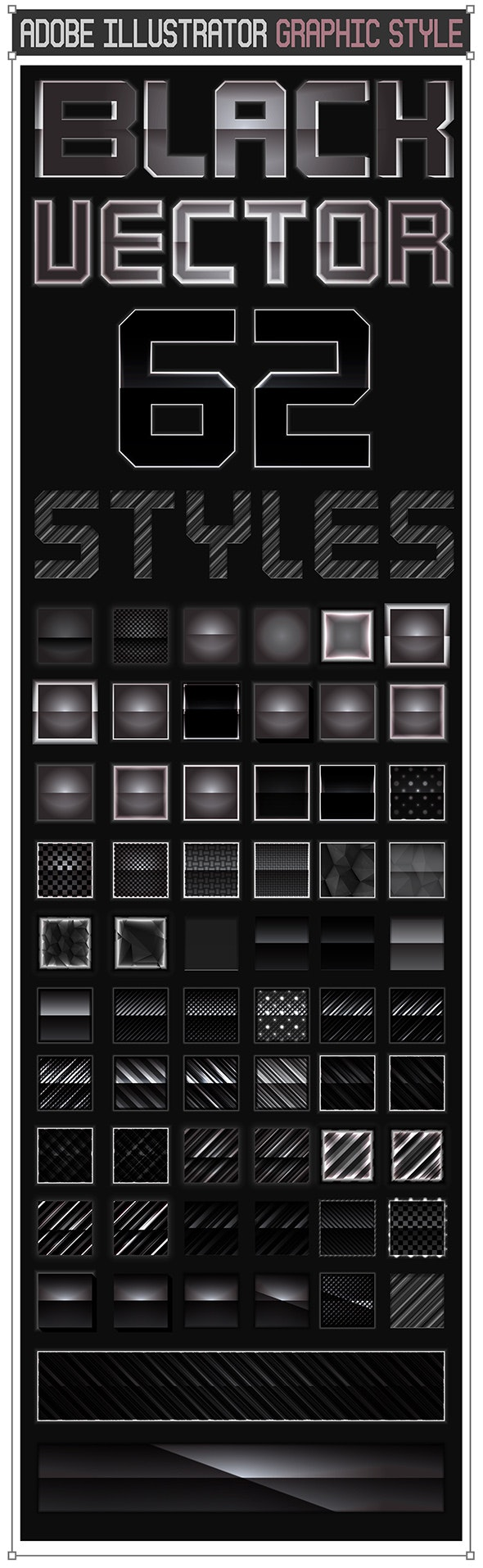 62 Black Vector Styles - Styles Illustrator