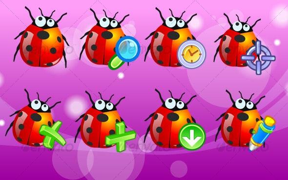 bug icons - Web Icons