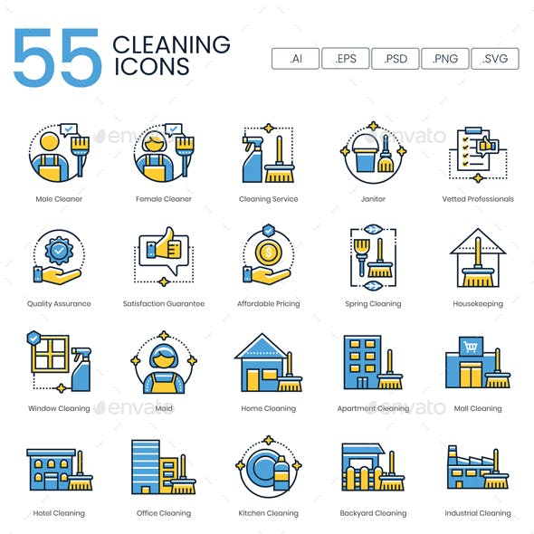 Cleaning Icons – Kinetic Series
