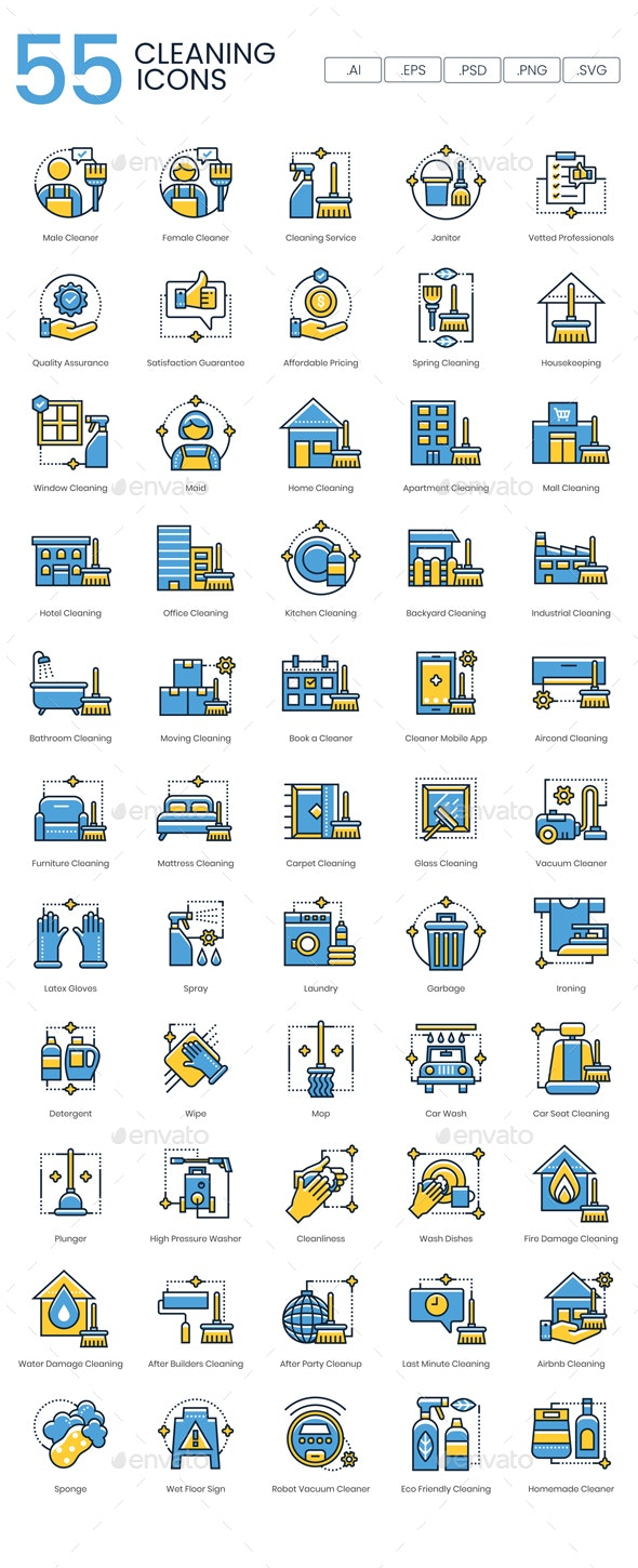 Cleaning Icons – Kinetic Series - Objects Icons
