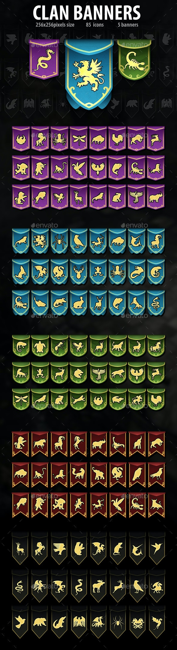 Clan Banners - Miscellaneous Game Assets