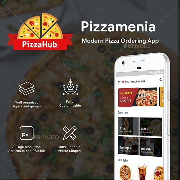 Pizza Ordering & Delivering App UI Kit | Pizzamenia