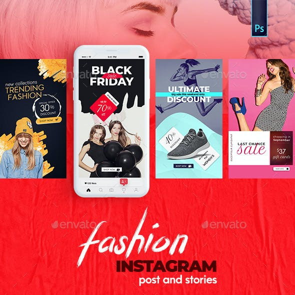 Fashion Instagram Post and Stories Bundle