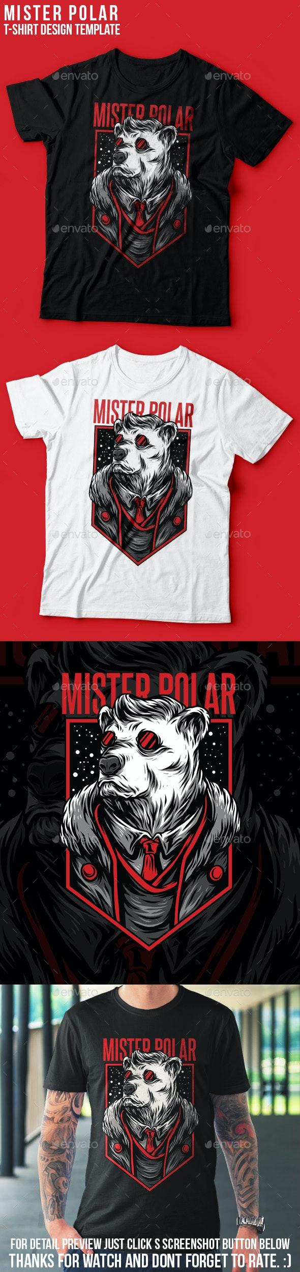 Mister Polar T-Shirt Design - Grunge Designs