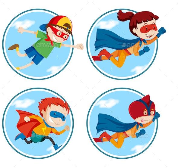 Superheroes - People Characters