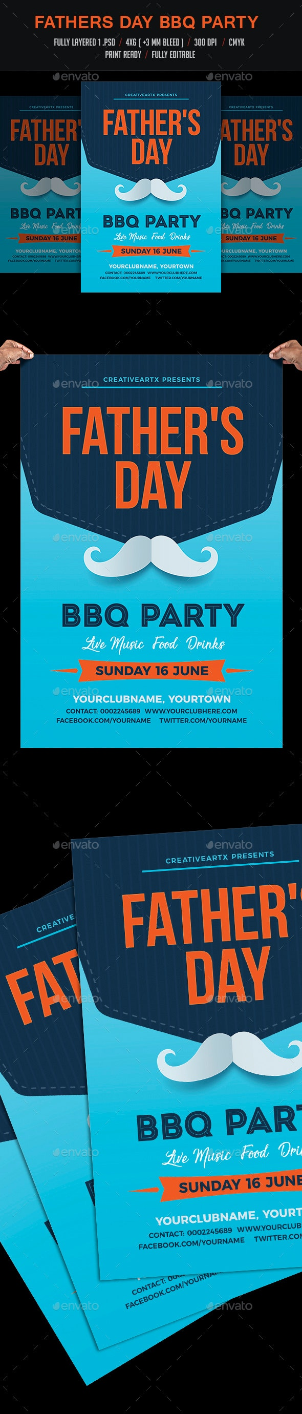 Fathers Day BBQ Flyer - Events Flyers