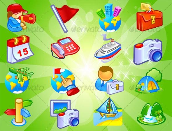 Travel Icons  - Web Icons