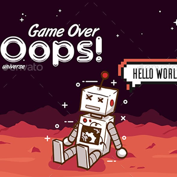 Creative Game Over 404 Error Page